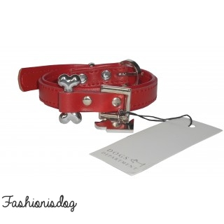 COLLIER BONE DOGS DEPARTMENT ROUGE