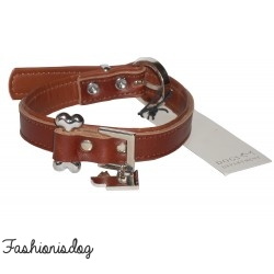 Collier bone Dogs Department marron