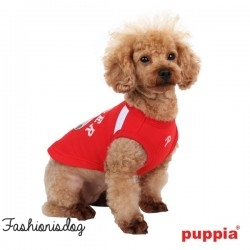 T-shirt Puppia Worldpup rouge