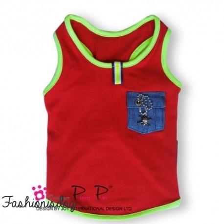 T-shirt Pretty Pet rouge