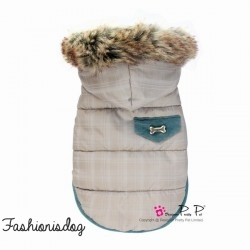 Doudoune Pretty Pet Chequered Hooded Coat