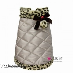 Doudoune Pretty Pet Leopard Trim Coat