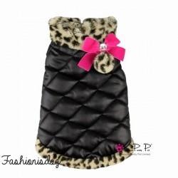 Doudoune Pretty Pet Leopard Trim Coat