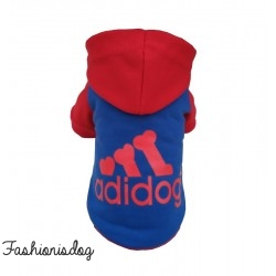 T-shirt Adidog rouge et bleu