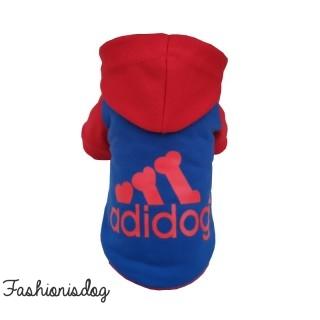Sweat Adidog rouge et bleu