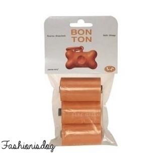 Recharges ramasse-crottes Bon Ton Classic orange