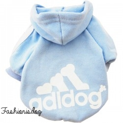 Sweat Adidog bleu ciel