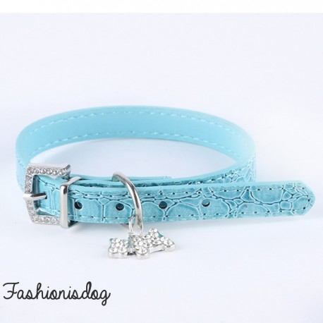 Collier Candy bleu