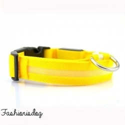 Collier lumineux jaune