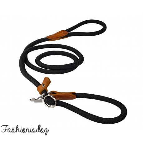 Ensemble collier et laisse Dogs Department noir