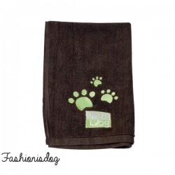 Serviette Idealdog marron
