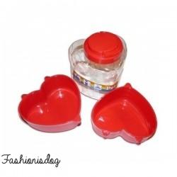 Kit de voyage coeur rouge