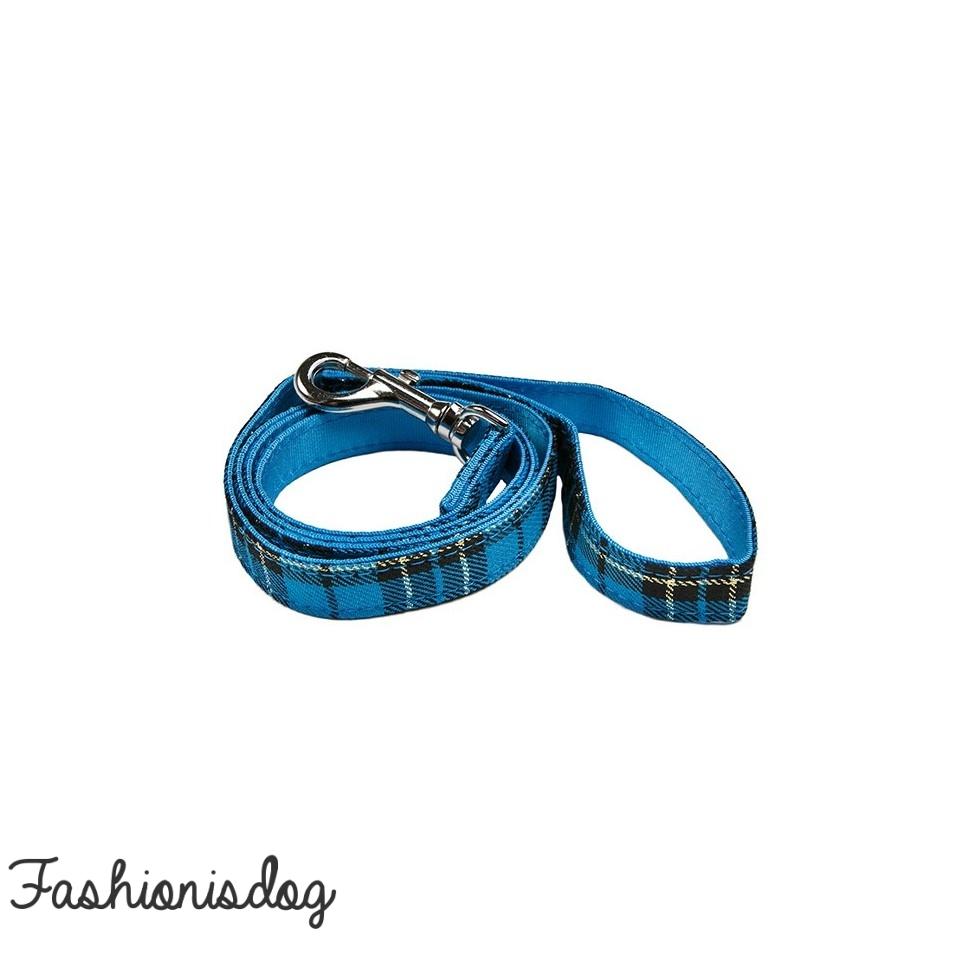 Laisse Urban Pup tartan bleu