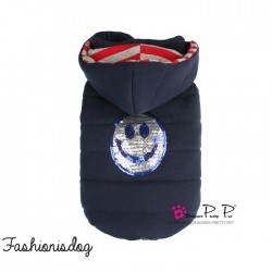 Doudoune Pretty Pet Happy Hooded Coat Navy