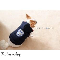 Doudoune Pretty Pet Happy Hooded Coat Navy