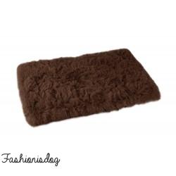 Plaid Fluffy marron