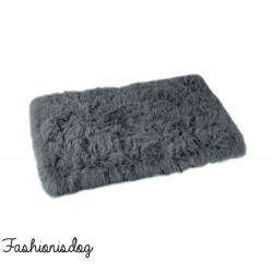 Plaid Fluffy gris