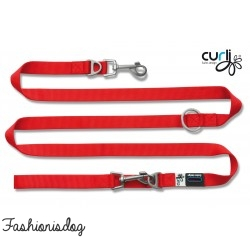 Laisse Curli Ajustable Nylon rouge