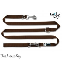 Laisse Curli Ajustable Nylon marron