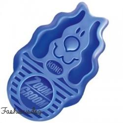 """Brosse KONG """"Zoom Groom"""" bleue"""