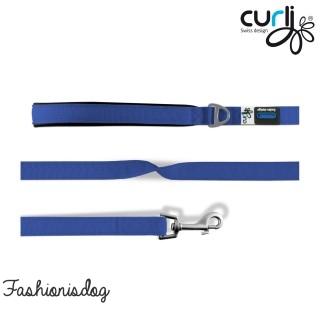 Laisse Curli Basic bleu