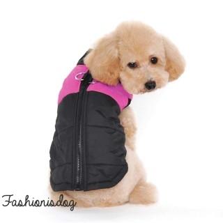 Manteau 2en1 rose pour grands chiens