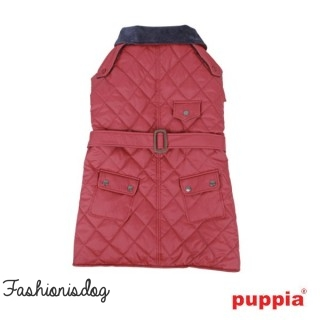 Manteau Puppia commuter rouge sombre