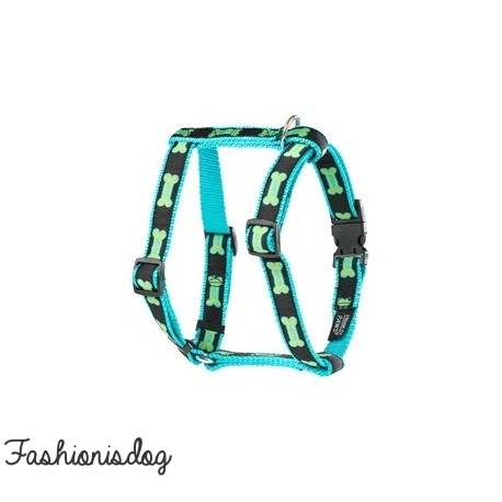 Harnais Woof House of Paws turquoise