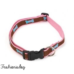Collier Woof House of Paws rose